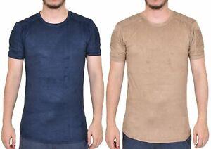 Men-T-Shirt-Slim-Fit-Short-Sleeve-Soft-Velvet-Casual-Shirt-Summer-Tee-Top