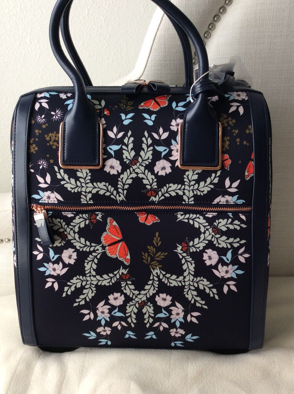 68e0e1e49dde44 Ted Baker Dafni Kyoto Gardens Two Wheel Travel Carry on Suitcase Bag for  sale online