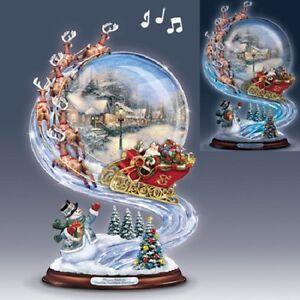 a holly jolly christmas richard macneil santa swirl figurine bradford exchange ebay. Black Bedroom Furniture Sets. Home Design Ideas