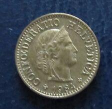 Münze 5 Rappen Schweizer Franken 1984 aus Umlauf gültiges Zahlungsmittel