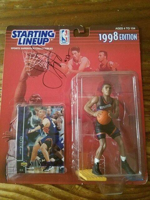 JASON KIDD NBA PHOENIX SUNS SIGNED AUTOGRAPHED 1998 STARTING LINEUP FIGURE