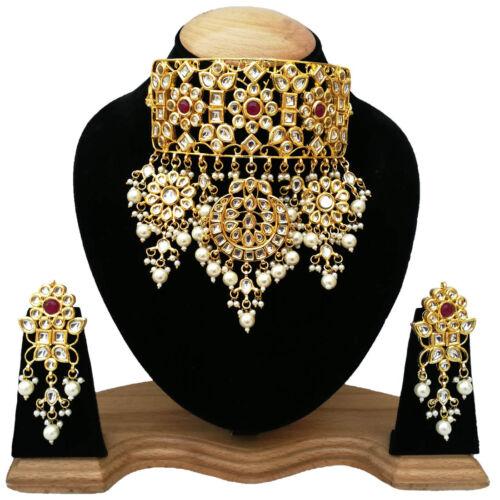 Details about  /Latest Handmade Bridal Wedding Designer Kundan Pearls Choker Necklace Jewelry