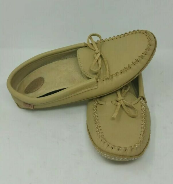 Laurentian Chief Moccasins Soft Sole Mens Size 12 Made In Canada With Insoles