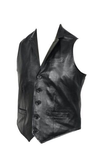 noir de Gilet boutonné gilet parti de de cuir hommes noir pour futé conception classique de wN8n0Oymv