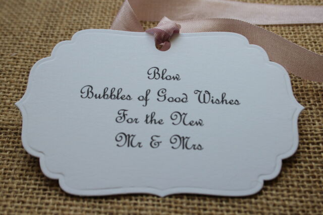 BUBBLES-Sign-Tag-Label-Wedding-White Card-Handmade-FAB