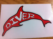 Scuba Diving Bumper Sticker Dive Flag Decal - Dolphin - DS64