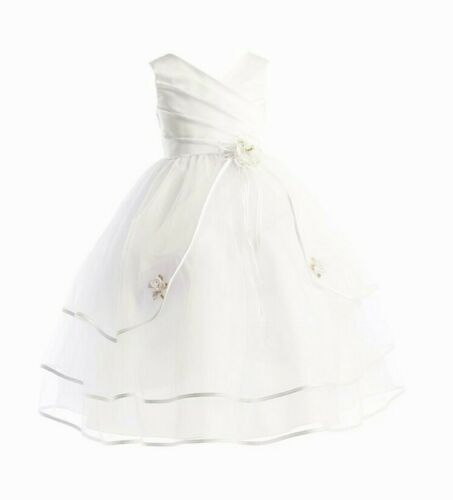 Adele Flower Girls Formal Dress Christening First Communion Bridesmaid Gown 3-10