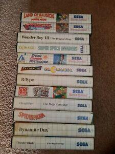 12 Sega Master System Games SEE PHOTOS