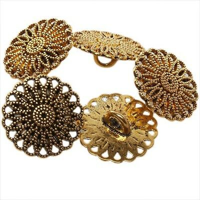 40pcs Lots Wholesale Round Folwer Golden Alloy Sew-on Button Fit DIY Findings LC