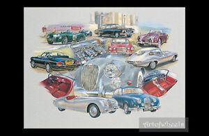 Jaguar-Car-Art-Print-XK150-XJ6-S1-XK150-Mk2-XK120-XJ-SC-D-type-C-Type-E-Type-S1
