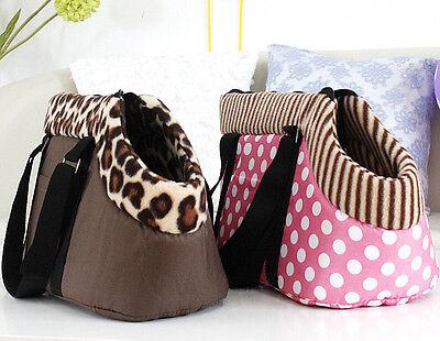 New Leopard/Dots Portable Pet Dog Cat Travel Carrier Tote Shoulder Bag Handbag