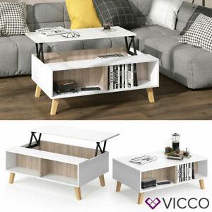 Table basse Bois Vintage Meubles de salon Vicco plateau réglable en hauteur Neuf