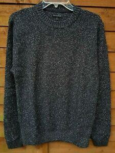 Men-039-s-ex-tienda-Texturado-Algodon-Jersey-De-Cuello-Redondo-Tamano-Mediano-40-034