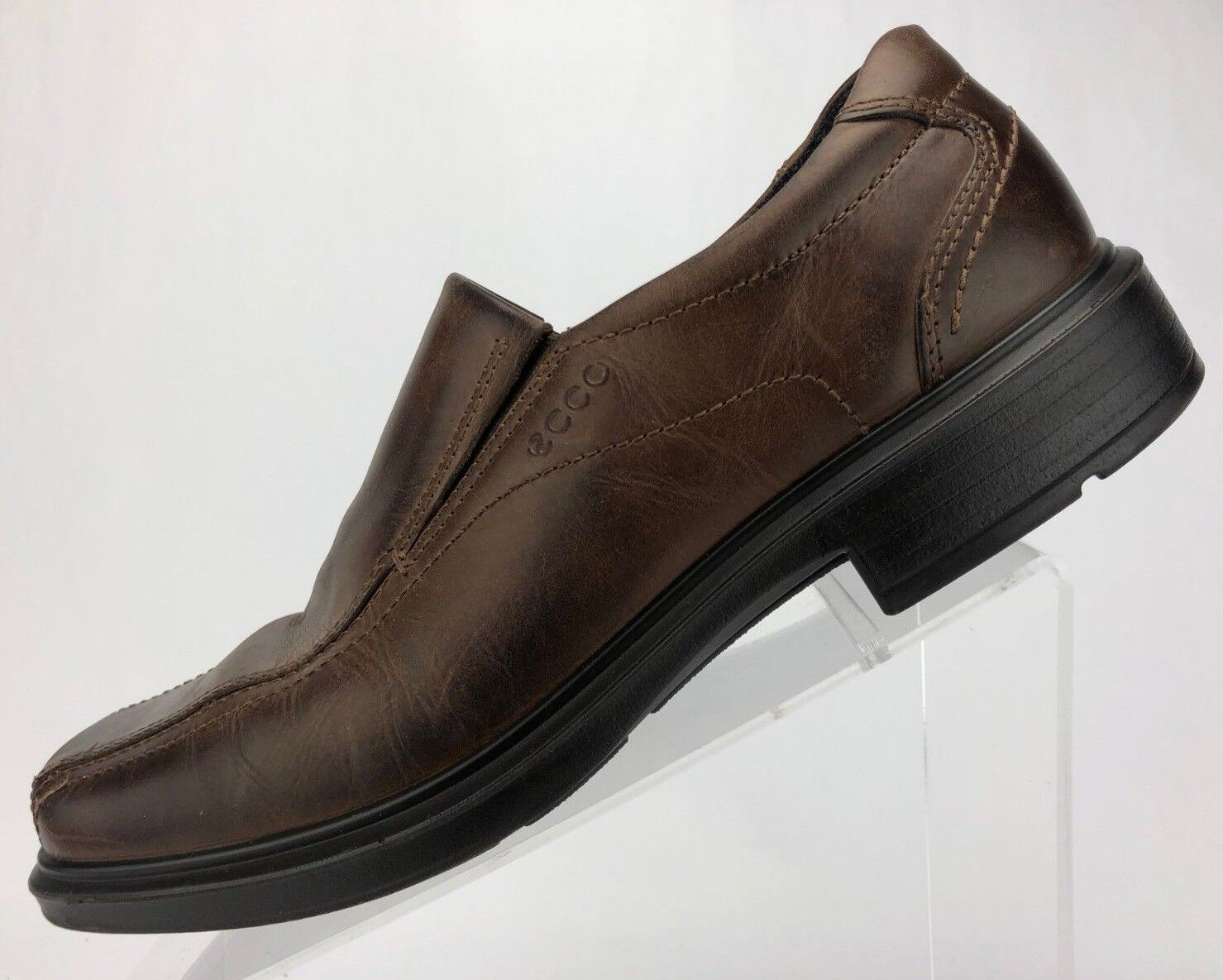 Ecco Loafers - Brown Leather Dress Casual Cushion Comfort Men's Size 43 US 9 9.5