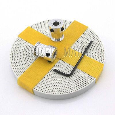 2 x MXL Type Timing Pulley 20 Teeth 6.35mm Bore for Stepper Motor + 2m MXL Belt