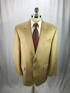 Ralph-Lauren-Men-039-s-Beige-Linen-Cotton-Blend-Herringbone-Blazer-Jacket-46L