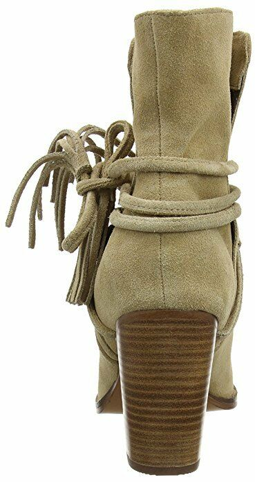 ALDO SIZE 8 41 CONTESSINA BEIGE REAL LEATHER SUEDE LEATHER REAL COWBOY ANKLE Stiefel f10932