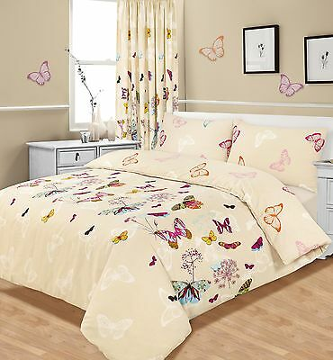 Luxury Butterfly Glaze Bedding Single Duvet Quilt Cover & Pillowcase Bed Set