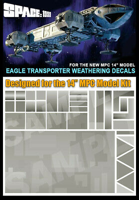 "Super Set STICKER DECALS MPC /& PE 12/"" Models SPACE 1999 EAGLE TRANSPORTER"