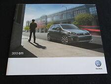 2013 VW Golf GTI Brochure Volkswagen GTI SR NAV Autobahn Sales Catalog Prospekt