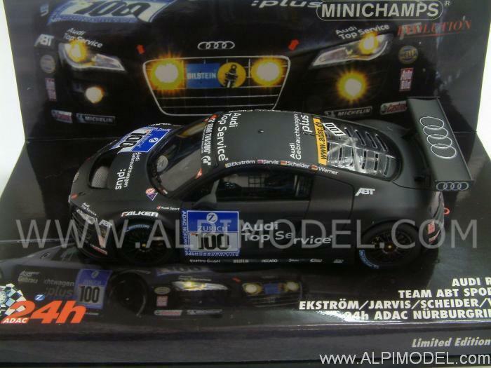 Audi R8 LMS 24h Nurburgbague 2010 Ekstrom - Jarvis -  W 1 43 MINICHAMPS 437101900  nouveaux produits nouveautés