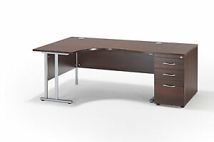 curved office desks. Image Is Loading Curved-Walnut-Cantilever-Office-Desk-And-800mm-Deep- Curved Office Desks O