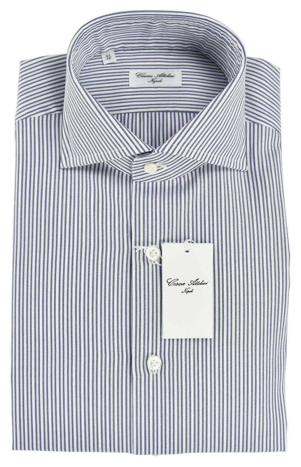 NEW 2018 CESARE ATTOLINI SHIRT 100% COTTON SIZE 16.5 US 42 CS512