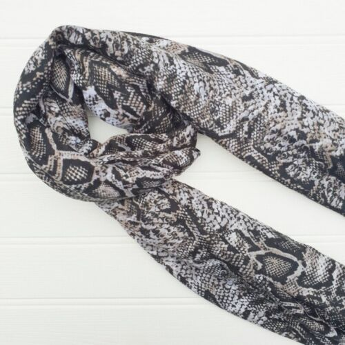 Scarves. Classic Animal print wrap sarong Black Scarf Snakeskin