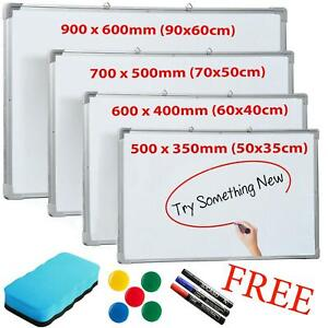 Magnetic-Whiteboard-Small-Large-White-Notice-Board-Dry-Wipe-Office-Home-School