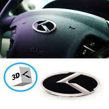 3D K Logo Steering wheel Horn Cap Emblem For Hyundai Tuscani Tiburon Coupe