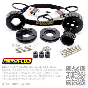 GILMER-DRIVE-SET-amp-BELTS-V8-INJECTED-5-0L-304-HOLDEN-VN-VP-VR-VS-COMMODORE-BLK