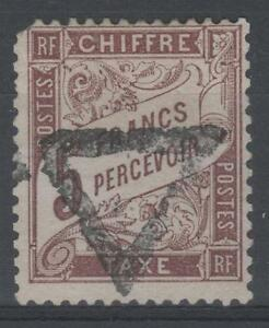 FRANCE-STAMP-TIMBRE-TAXE-N-27-034-TYPE-DUVAL-5F-MARRON-034-OBLITERE-A-VOIR-N660
