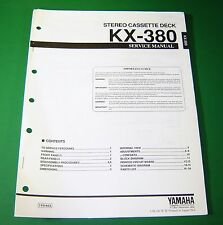 Original Yamaha KX-380 Service Manual