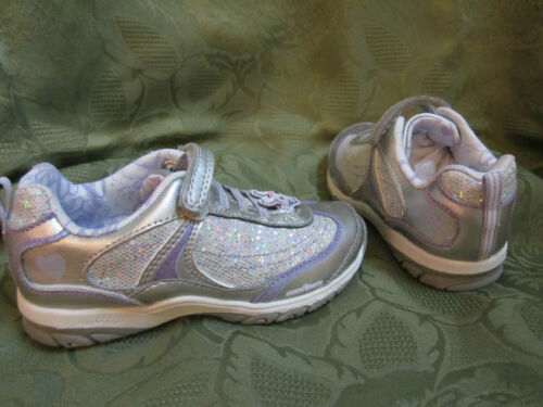 Stride Rite Toddler Girl Girls Glitzy Pets Starr Silver Purple Sneakers Shoes