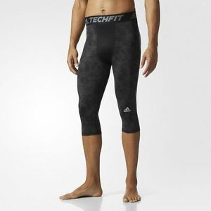 BRAND NEW $55 Adidas Men's Techfit Snake Strike 3/4 Tights Compression BK1457