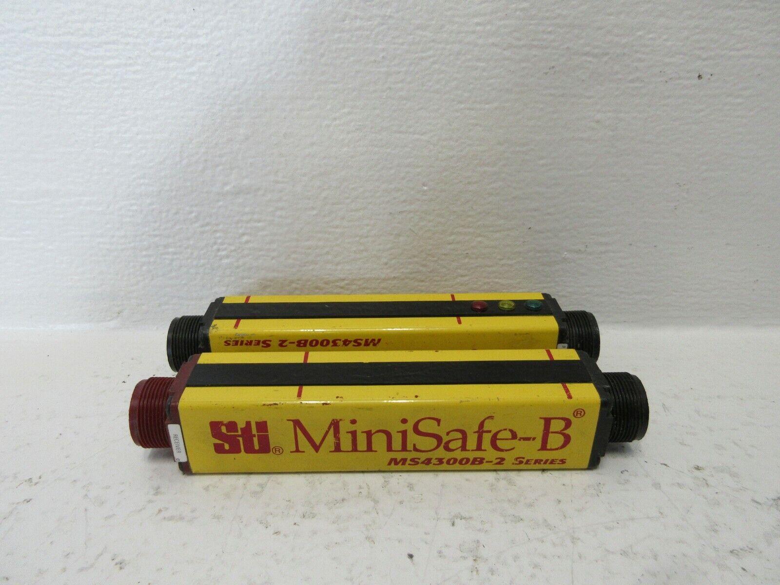 STI MS4304B-2 USED SAFETY LIGHT CURTAIN SET TRANSMITTER   RECEIVER MS4304B2