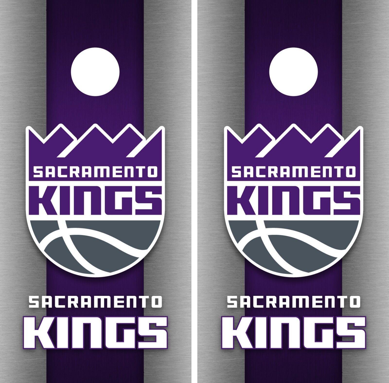 Sacramento Kings Cornhole Wrap NBA Game Skin Board Vinyl Decal  Art Set CO706  buy discounts