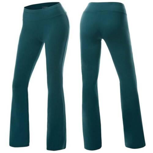 Details about  /Women Yoga Pants Flare Leg Bootcut Gym Sports Casual Stretch Leggings Loungewear
