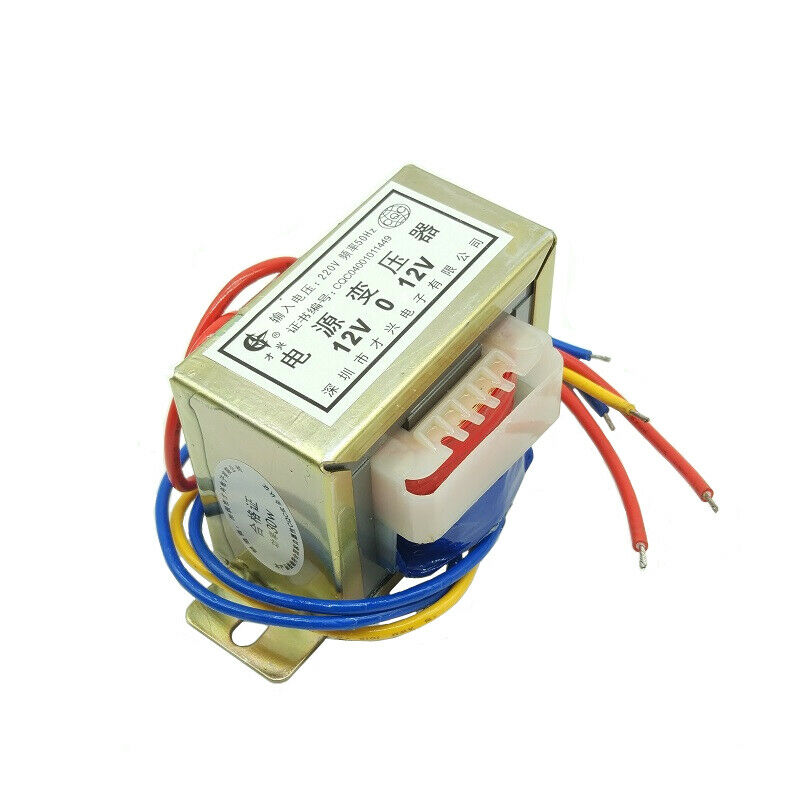 1-100W EI Core MINI Power Transformer 220VAC 50Hz TO 12VAC Converter Dual Output