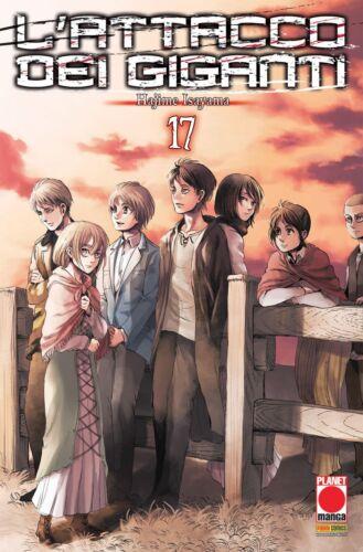 ITALIANO NUOVO #NSF3 Planet Manga L/'Attacco dei Giganti N° 17 Ristampa