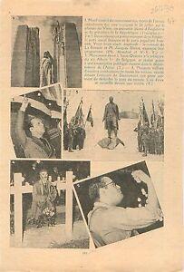 """Colonel de La Rocque PSF & Jacques Doriot PPF/ Tombe Douaumont 1936 ILLUSTRATION - France - Commentaires du vendeur : """"OCCASION"""" - France"""
