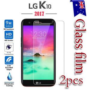 2X-LG-K10-2017-Tempered-Glass-Plastic-Screen-Protector-Film-Guard