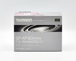 Tamron-SP-AF-60mm-F-2-0-Di-II-Macro-1-1-Objektiv-fuer-Nik-mit-einge-Motor-NEU