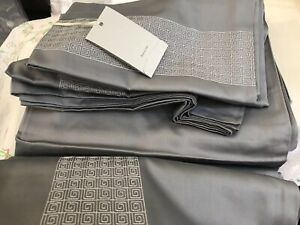 Details about Mastro Raphael Italy NWT 4pc Queen Sheet Set 100% Cotton  Grigio Grey
