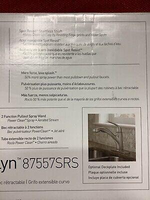 Moen Brecklyn 1 Handle Pull Out Sprayer Kitchen Faucet W Power Clean Spot Resist 26508279625 Ebay
