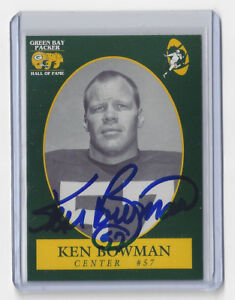 PACKERS-Ken-Bowman-signed-Packers-Hall-of-Fame-card-57-AUTOGRAPHED-Green-Bay