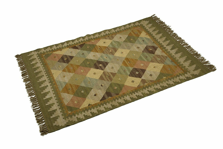 100% Wool, Kilim Bazaar, 120x180cm. Quality Hand Made. Reversible rug