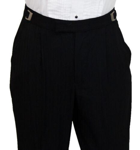 Boys Size 9 Black Parisian Tuxedo Formal Pinstripe Jacket /& Pant Wedding Suit