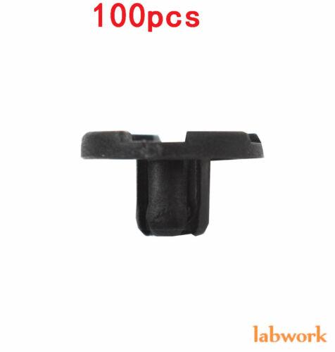 100x Bumper Clips 8mm Plastic Rivet Fastener Mud Flaps Fender Push for NISSAN US