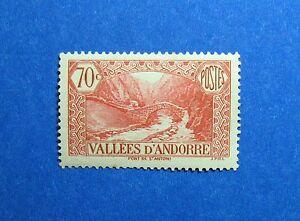 2019 Fashion 1938 Andorra French 70c Scott# 43 Michel # 65 Unused Cs26778 Be Shrewd In Money Matters Andorra Europe